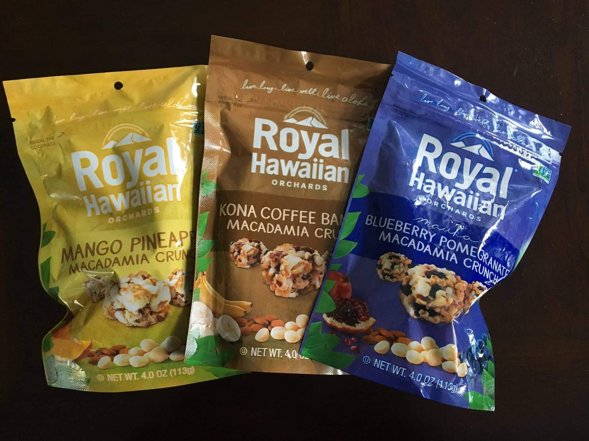 Royal Hawaiian Orchards Review: Fruit & Macadamia Nut Crunches