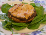 Sundried Tomato and Hummus Vegan Stuffed Mushrooms