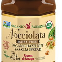 Nocciolata Dairy Free Organic Hazelnut and Cocoa Spread: Delectable and Delicious